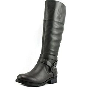 BANDOLINO Tall Riding Boots Dark Taupe Leather